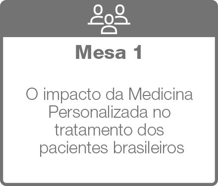 Mesa 1: O impacto da Medicina Personalizada no tratamento dos pacientes brasileiros