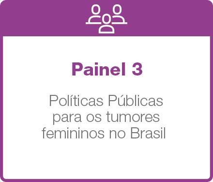 Painel 3: Políticas Públicas para os tumores femininos no Brasil